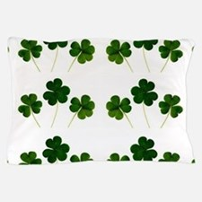 st patricks day shamrocks Pillow Case