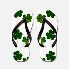 st patricks day shamrocks Flip Flops