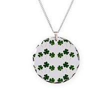 st patricks day shamrocks Necklace Circle Charm