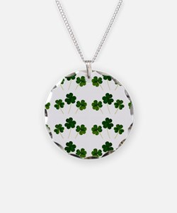 st patricks day shamrocks Necklace Circle Charm