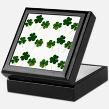 st patricks day shamrocks Keepsake Box