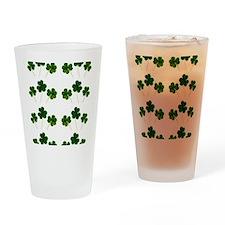 st patricks day shamrocks Drinking Glass