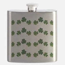 st patricks day shamrocks Flask