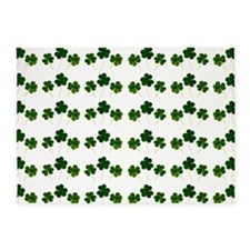 st patricks day shamrocks 5'x7'Area Rug
