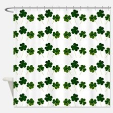 st patricks day shamrocks Shower Curtain