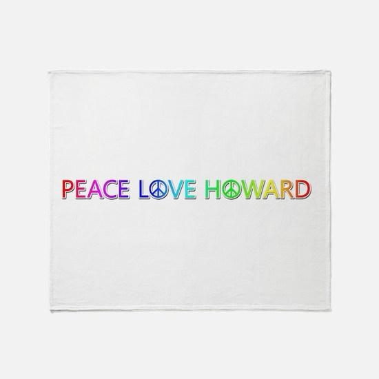 Peace Love Howard Throw Blanket