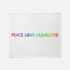 Peace Love Humberto Throw Blanket