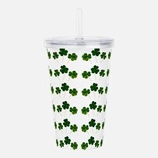 st patricks day shamro Acrylic Double-wall Tumbler
