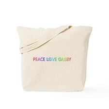 Peace Love Gabby Tote Bag