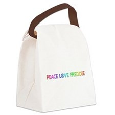 Peace Love Freddie Canvas Lunch Bag