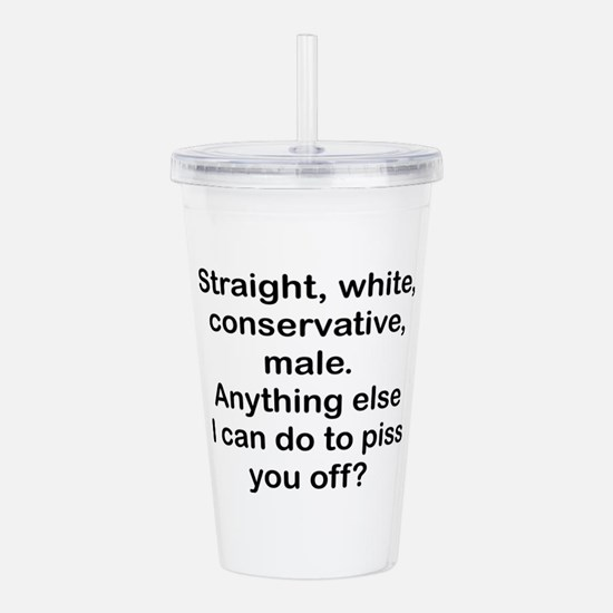 Straight, White...(bl) Acrylic Double-Wall Tumbler