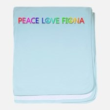 Peace Love Fiona baby blanket