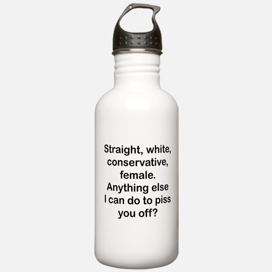 Straight, White...(FBL) Water Bottle