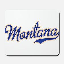 Montana Script Font Blue Mousepad