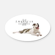 American Bulldog Oval Car Magnet
