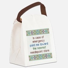 Needlepoint Emergency Canvas Lunch Bag