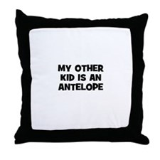 my other kid is an antelope Throw Pillow