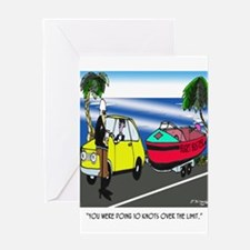 Boat Cartoon 3841 Greeting Card