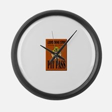 Lions Drag Strip Pit Pass Large Wall Clock