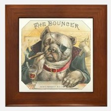 The Bouncer Vintage Bulldog Framed Tile