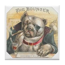 The Bouncer Vintage Bulldog Tile Coaster