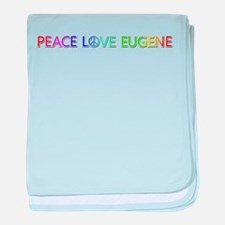 Peace Love Eugene baby blanket