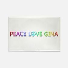Peace Love Gina Rectangle Magnet