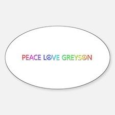 Peace Love Greyson Oval Decal