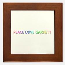 Peace Love Garrett Framed Tile