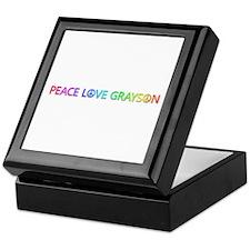 Peace Love Grayson Keepsake Box