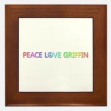 Peace Love Griffin Framed Tile