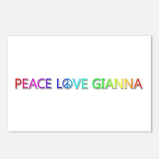 Peace Love Gianna Postcards 8 Pack