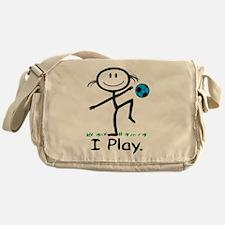 Soccer Girl Blue Messenger Bag