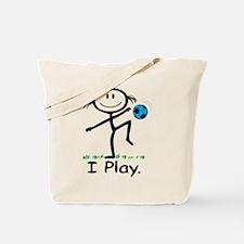 Soccer Girl Blue Tote Bag