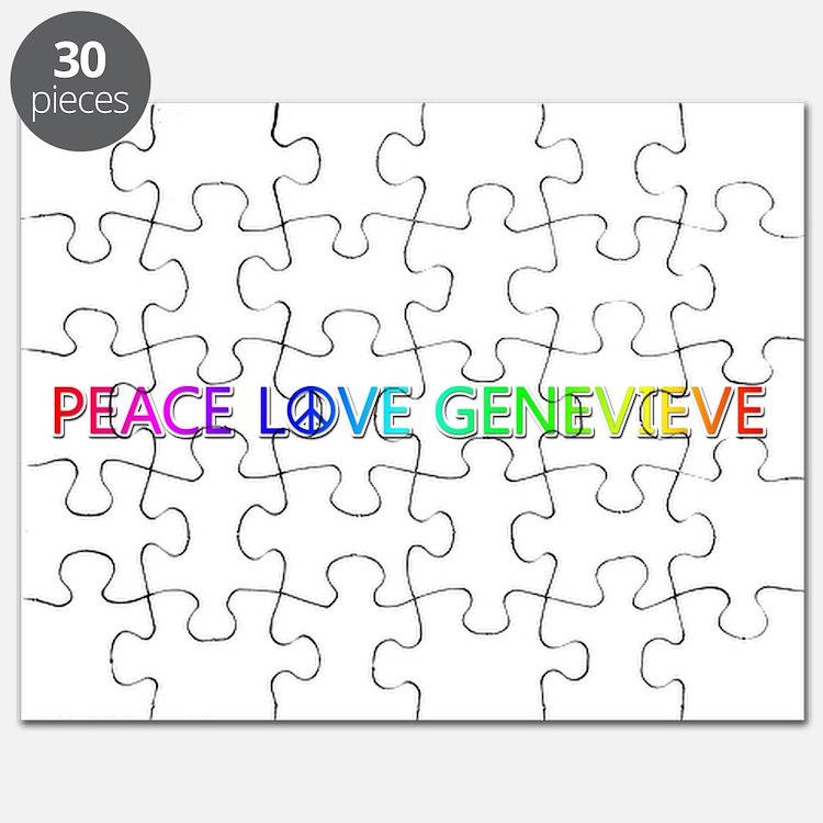 Peace Love Genevieve Puzzle