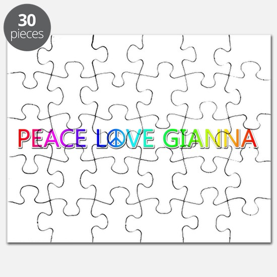 Peace Love Gianna Puzzle