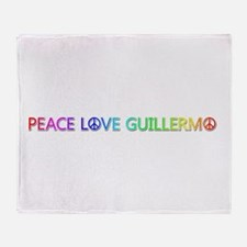 Peace Love Guillermo Throw Blanket