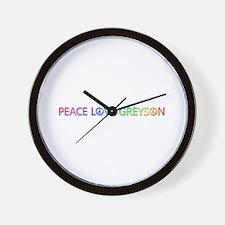 Peace Love Greyson Wall Clock