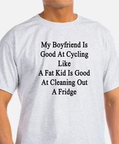 Unique Boyfriend cyclist T-Shirt