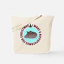 Hippo for Christmas Tote Bag