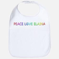Peace Love Elaina Bib