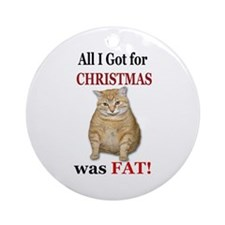 Fat Christmas Round Ornament
