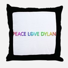 Peace Love Dylan Throw Pillow