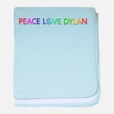 Peace Love Dylan baby blanket