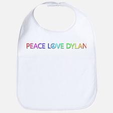Peace Love Dylan Bib