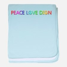 Peace Love Dion baby blanket