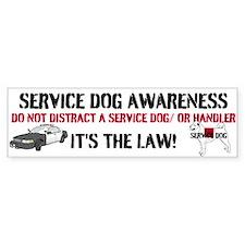 SERVICE DOG AWARENESS Bumper Bumper Sticker