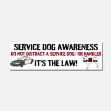 SERVICE DOG AWARENESS Car Magnet 10 x 3