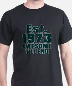 Est. 1973 Awesome Till End Birthday D T-Shirt