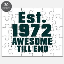 Est. 1972 Awesome Till End Birthday Designs Puzzle